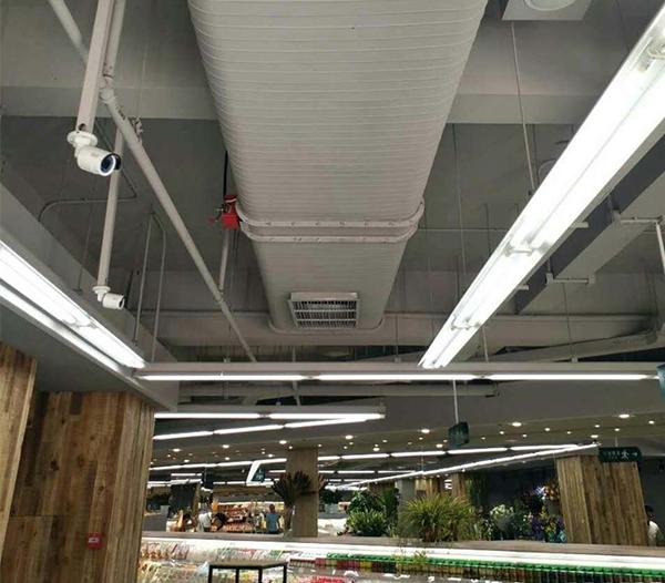 北京果蔬好超市新风管道